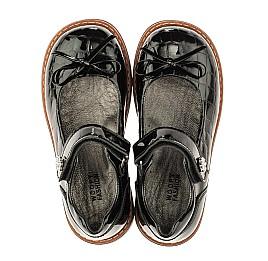 Детские туфли ортопедические Woopy Orthopedic черные для девочек натуральная лаковая кожа размер 28-36 (4029) Фото 5