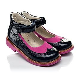 Детские туфли ортопедические Woopy Orthopedic темно-синие для девочек натуральная лаковая кожа размер 25-32 (4030) Фото 1