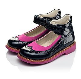 Детские туфли ортопедические Woopy Orthopedic темно-синие для девочек натуральная лаковая кожа размер 25-32 (4030) Фото 3
