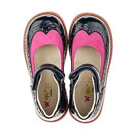 Детские туфли ортопедические Woopy Orthopedic темно-синие для девочек натуральная лаковая кожа размер 25-32 (4030) Фото 5