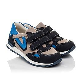 Детские кроссовки Woopy Orthopedic темно-синие для мальчиков натуральный нубук размер 18-21 (4032) Фото 1