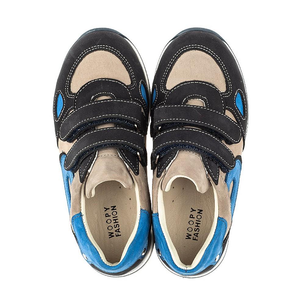 Детские кроссовки Woopy Orthopedic темно-синие для мальчиков натуральный нубук размер 18-30 (4032) Фото 2