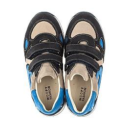 Детские кроссовки Woopy Orthopedic темно-синие для мальчиков натуральный нубук размер 18-21 (4032) Фото 2
