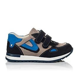 Детские кроссовки Woopy Orthopedic темно-синие для мальчиков натуральный нубук размер 18-21 (4032) Фото 3