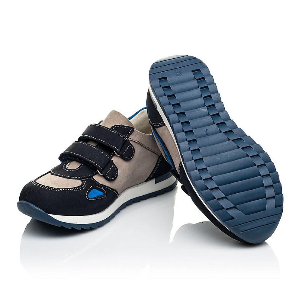 Детские кроссовки Woopy Orthopedic темно-синие для мальчиков натуральный нубук размер 18-30 (4032) Фото 5