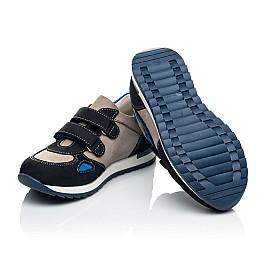 Детские кроссовки Woopy Orthopedic темно-синие для мальчиков натуральный нубук размер 18-21 (4032) Фото 5