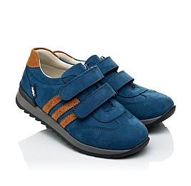 Детские кроссовки Woopy Orthopedic синие для мальчиков натуральный нубук размер 24-34 (4036) Фото 1