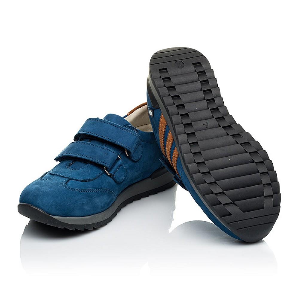 Детские кроссовки Woopy Orthopedic синие для мальчиков натуральный нубук размер 24-34 (4036) Фото 2