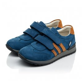 Детские кроссовки Woopy Orthopedic синие для мальчиков натуральный нубук размер 24-34 (4036) Фото 3