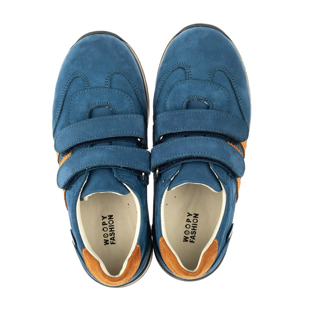 Детские кроссовки Woopy Orthopedic синие для мальчиков натуральный нубук размер 24-34 (4036) Фото 5