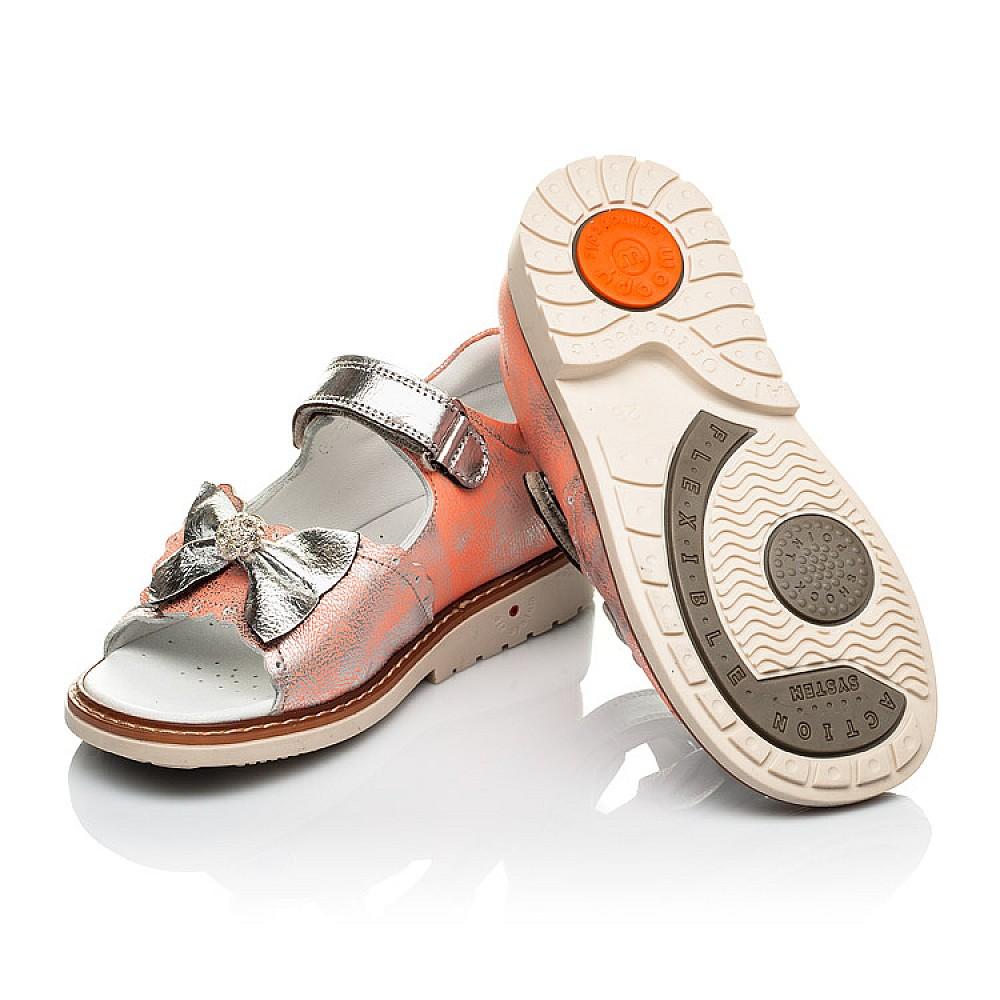Детские ортопедические босоножки Woopy Orthopedic оранжевые для девочек натуральная кожа размер 28-36 (4037) Фото 2