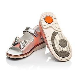 Детские ортопедические босоножки Woopy Orthopedic оранжевые для девочек натуральная кожа размер 28-35 (4037) Фото 2