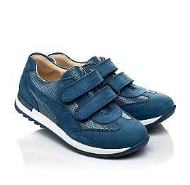 Детские кроссовки Woopy Orthopedic синие для мальчиков натуральная кожа размер 31-40 (4039) Фото 1