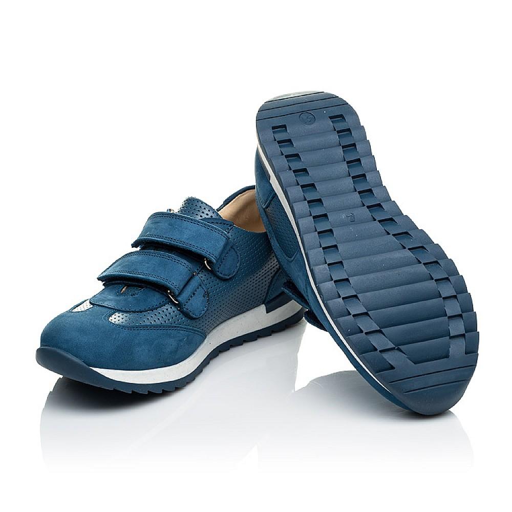 Детские кроссовки Woopy Orthopedic синие для мальчиков натуральная кожа размер 19-40 (4039) Фото 2