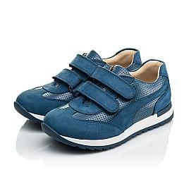 Детские кроссовки Woopy Orthopedic синие для мальчиков натуральная кожа размер 31-40 (4039) Фото 3