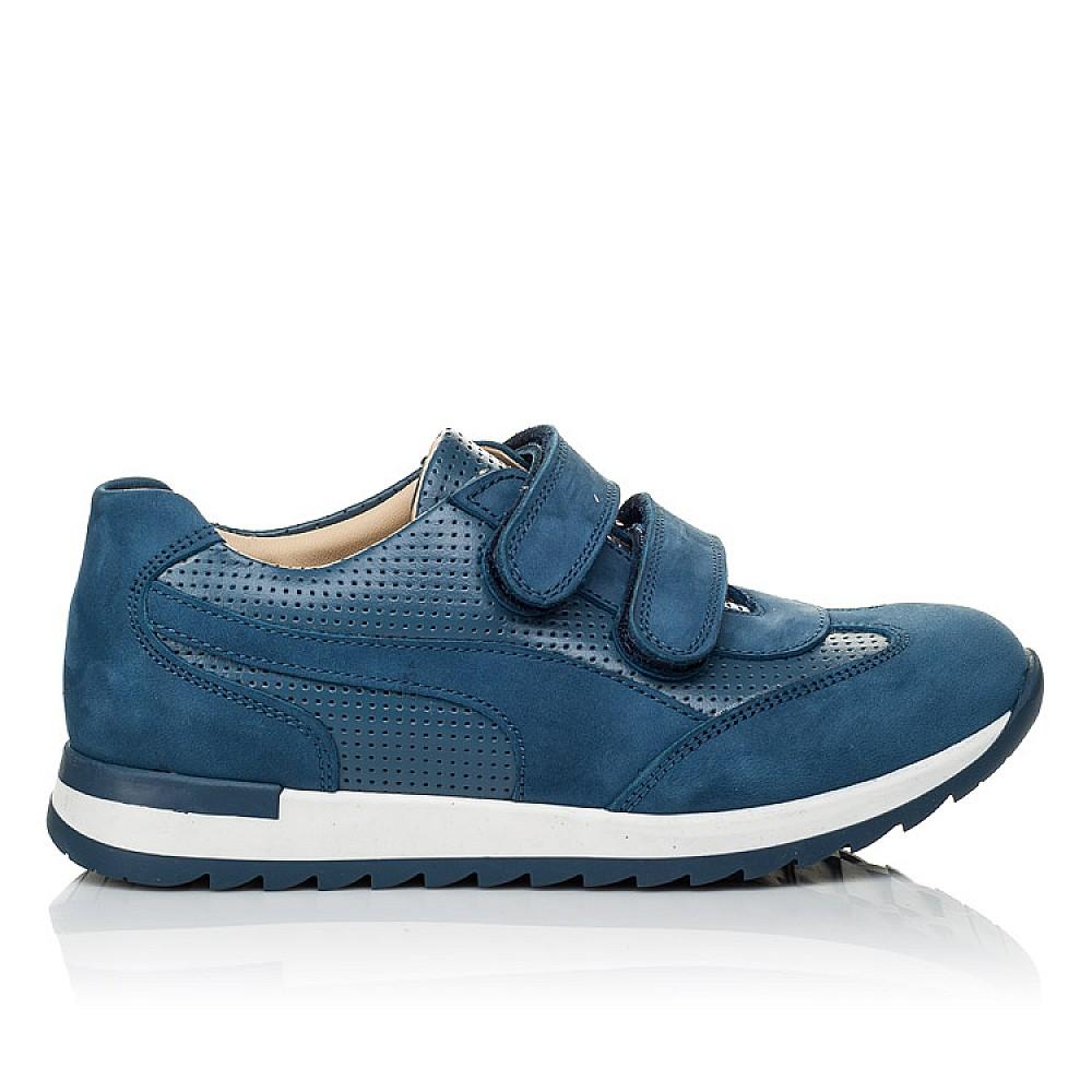 Детские кроссовки Woopy Orthopedic синие для мальчиков натуральная кожа размер 19-40 (4039) Фото 4