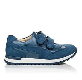 Детские кроссовки Woopy Orthopedic синие для мальчиков натуральная кожа размер 31-40 (4039) Фото 4