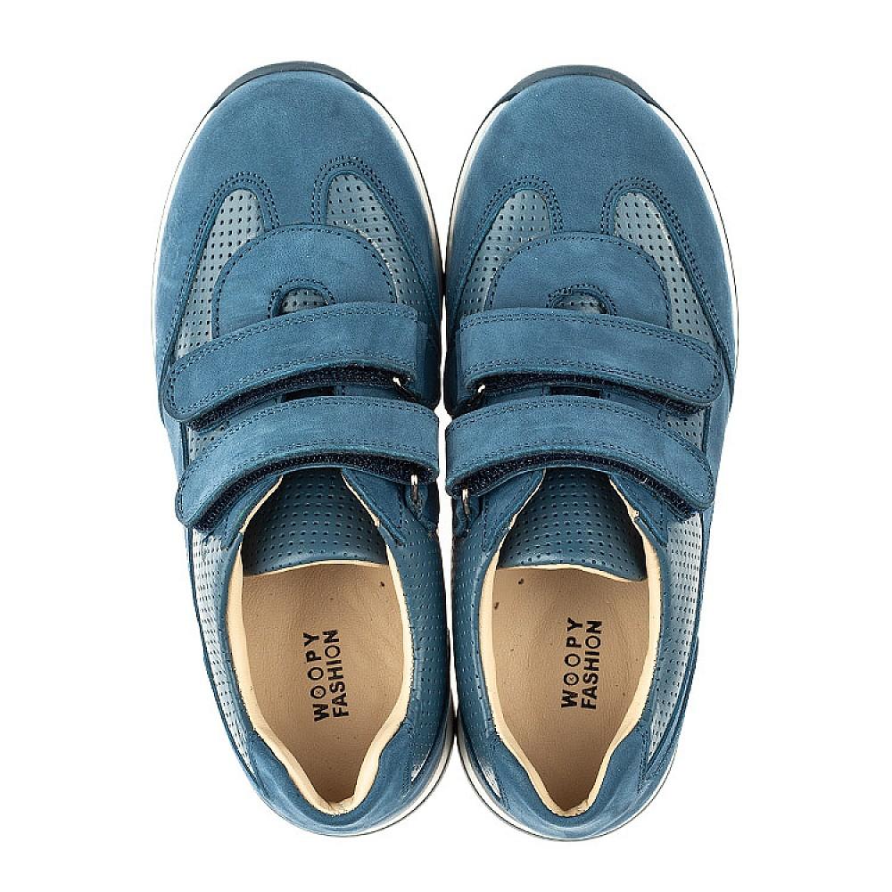 Детские кроссовки Woopy Orthopedic синие для мальчиков натуральная кожа размер 19-40 (4039) Фото 5