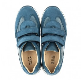 Детские кроссовки Woopy Orthopedic синие для мальчиков натуральная кожа размер 31-40 (4039) Фото 5