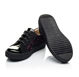 Детские кеды Woopy Orthopedic черные для девочек лаковая кожа/гипюр размер 28-36 (4042) Фото 2