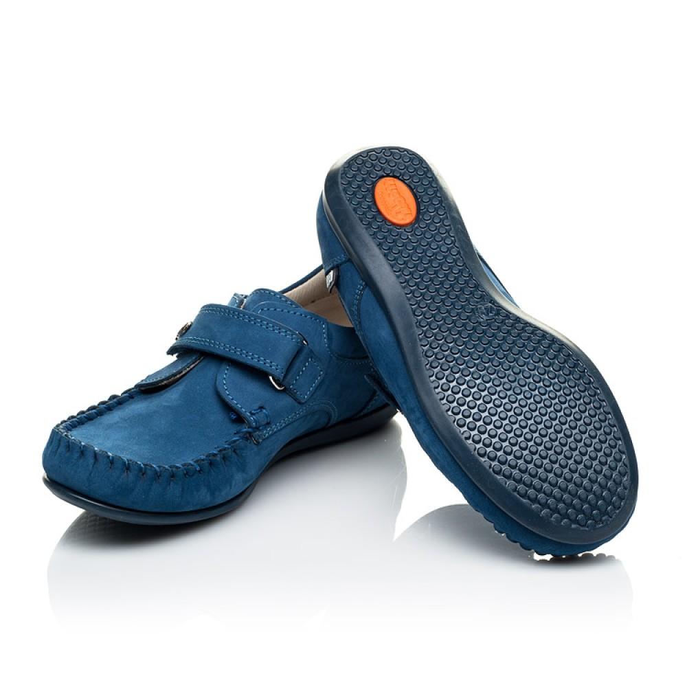 Детские мокасины Woopy Orthopedic синие для мальчиков натуральный нубук размер 24-30 (4044) Фото 2