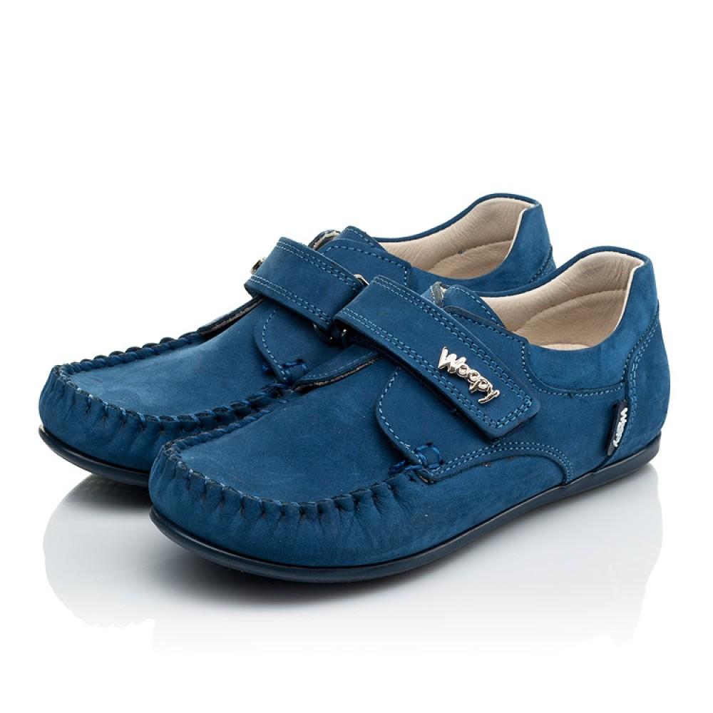 Детские мокасины Woopy Orthopedic синие для мальчиков натуральный нубук размер 24-30 (4044) Фото 3