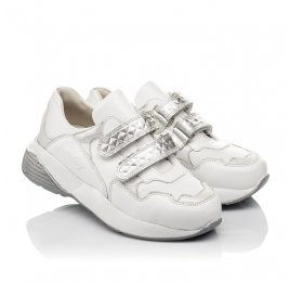 Детские кроссовки Woopy Orthopedic белые для девочек натуральная кожа размер 26-30 (4045) Фото 1