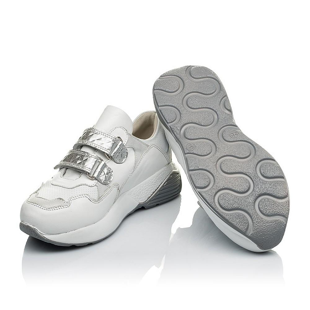 Детские кроссовки Woopy Orthopedic белые для девочек натуральная кожа размер 26-36 (4045) Фото 2