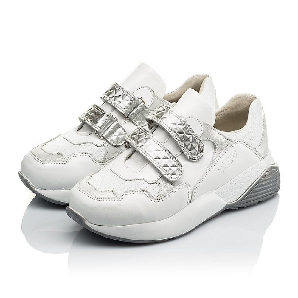 Детские кроссовки Woopy Orthopedic белые для девочек натуральная кожа размер 26-36 (4045) Фото 3