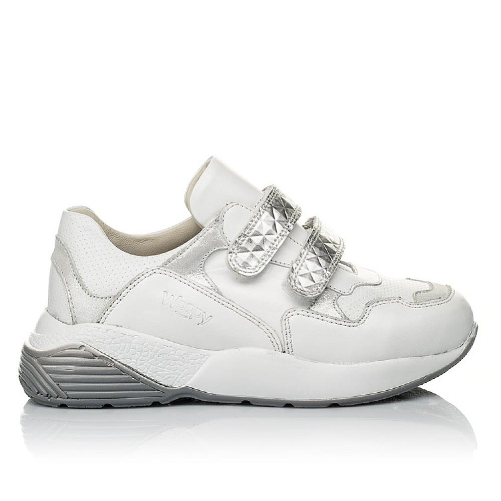 Детские кроссовки Woopy Orthopedic белые для девочек натуральная кожа размер 26-36 (4045) Фото 4