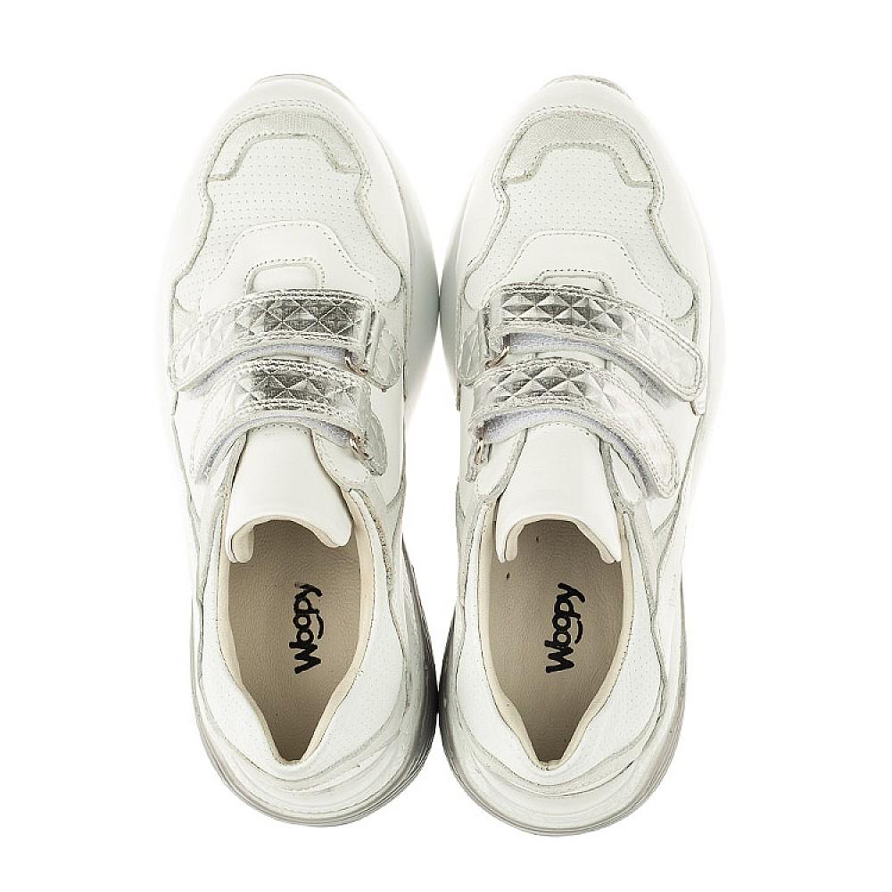 Детские кроссовки Woopy Orthopedic белые для девочек натуральная кожа размер 26-36 (4045) Фото 5