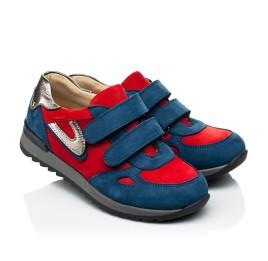Детские кроссовки Woopy Orthopedic синие для мальчиков натуральный нубук размер 21-33 (4046) Фото 1