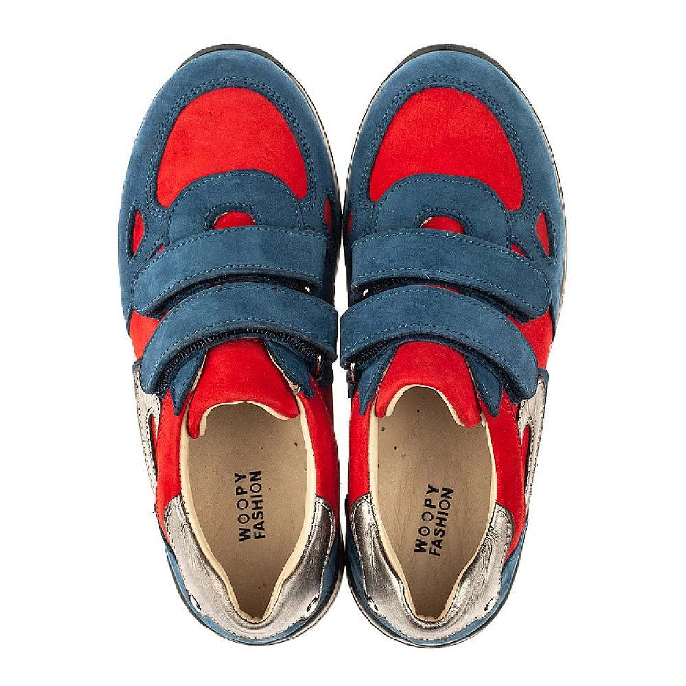 Детские кроссовки Woopy Orthopedic синие для мальчиков натуральный нубук размер 21-40 (4046) Фото 5
