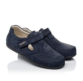 Детские туфли Woopy Orthopedic темно-синие для мальчиков натуральный нубук размер 26-38 (4047) Фото 1