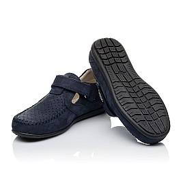 Детские туфлі Woopy Orthopedic темно-синие для мальчиков натуральный нубук размер 26-38 (4047) Фото 2