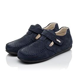 Детские туфли Woopy Orthopedic темно-синие для мальчиков натуральный нубук размер 26-38 (4047) Фото 3