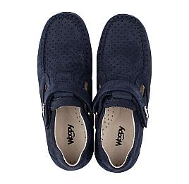Детские туфли Woopy Orthopedic темно-синие для мальчиков натуральный нубук размер 26-38 (4047) Фото 5