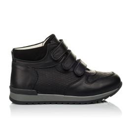 Детские кроссовки Woopy Orthopedic черные для мальчиков натуральная кожа размер 21-40 (4048) Фото 4