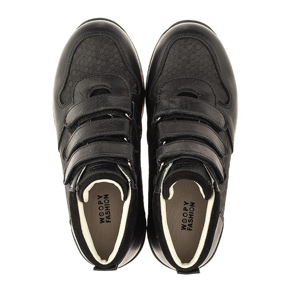 Детские кроссовки Woopy Orthopedic черные для мальчиков натуральная кожа размер 21-40 (4048) Фото 5