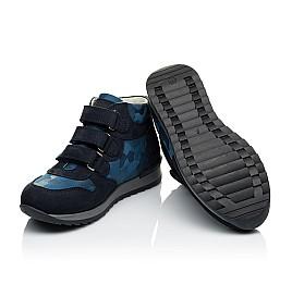 Детские кроссовки Woopy Orthopedic синие для мальчиков натуральный нубук размер 21-40 (4052) Фото 2