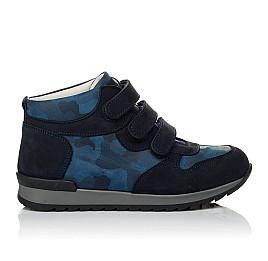 Детские кроссовки Woopy Orthopedic синие для мальчиков натуральный нубук размер 21-40 (4052) Фото 4