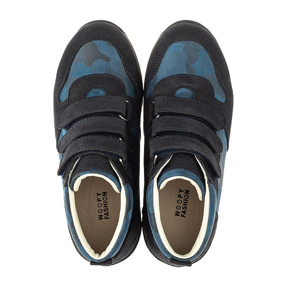 Детские кроссовки Woopy Orthopedic синие для мальчиков натуральный нубук размер 21-40 (4052) Фото 5
