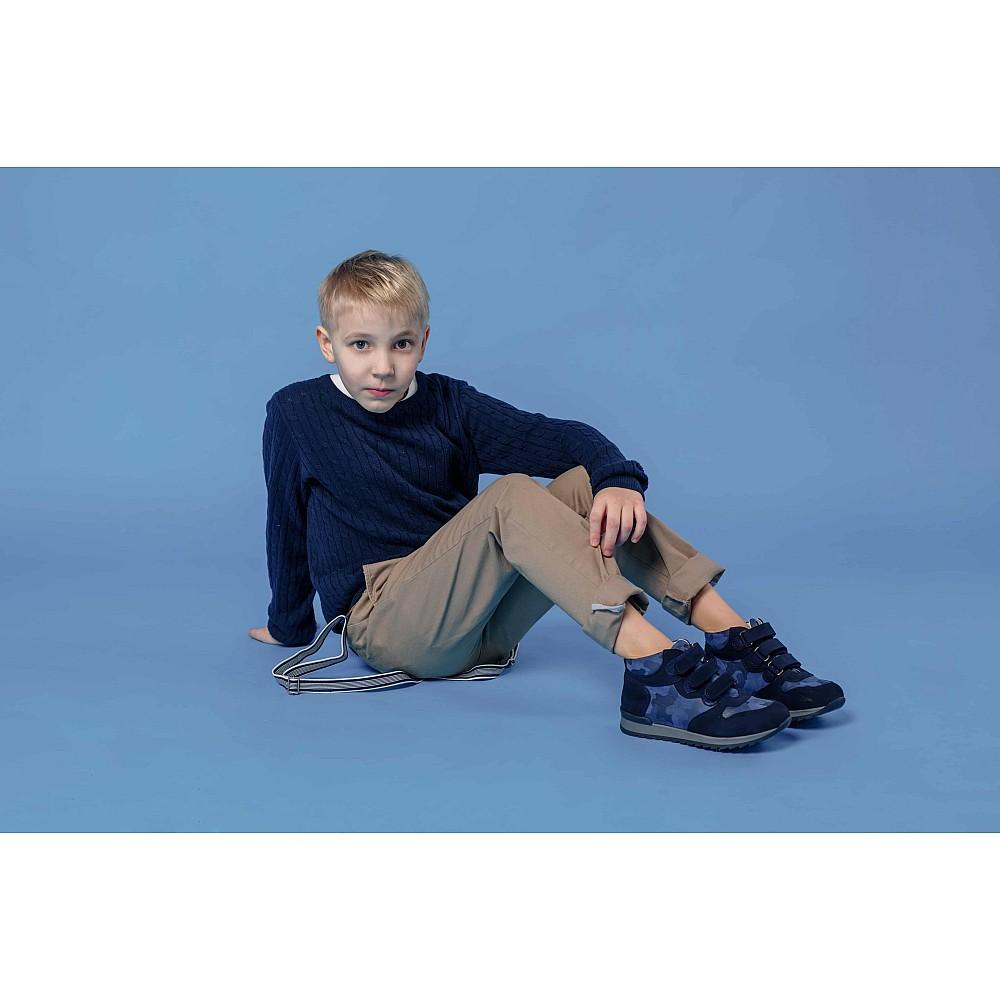 Детские кроссовки Woopy Orthopedic синие для мальчиков натуральный нубук размер 21-40 (4052) Фото 6
