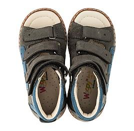Детские ортопедичні босоніжки (з високим берцем) Woopy Orthopedic серые для мальчиков натуральный нубук размер 21-31 (4056) Фото 5