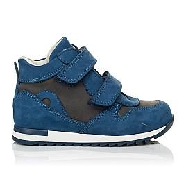 Детские кроссовки Woopy Orthopedic синие для мальчиков натуральный нубук размер 21-40 (4057) Фото 4