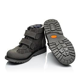 Детские демисезонные ботинки Woopy Orthopedic серые для мальчиков натуральный нубук размер 21-36 (4059) Фото 2
