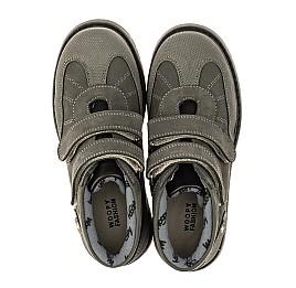 Детские демисезонные ботинки Woopy Orthopedic серые для мальчиков натуральный нубук размер 21-36 (4059) Фото 5
