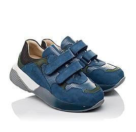 Детские кроссовки Woopy Orthopedic синие для мальчиков натуральный нубук размер 27-37 (4062) Фото 1