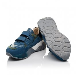 Детские кроссовки Woopy Orthopedic синие для мальчиков натуральный нубук размер 27-37 (4062) Фото 2