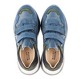 Детские кроссовки Woopy Orthopedic синие для мальчиков натуральный нубук размер 27-37 (4062) Фото 5